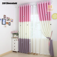 Korean rural lovely princess velvet children room curtains for living dining room bedroom windows drapes three dimensional puppy