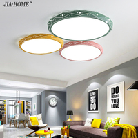 PostModern Ceiling Lights White Black Pink Yellow Green Color Living Room Bedroom Surface Mount Remote Control