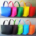 2016 Free Shipping 500pcs/lot 4 Sizes 10 Different Colors Print your logo Non Woven Shopping Bags Recycle Non Woven bag by TNT.