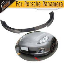 Carbon Fiber front bumper lip for For Porsche Panamera 2010- 2013 front valance spoiler