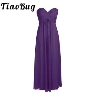 Image 1 - TiaoBug ELegant Women Petals Dress Chiffon Bridesmaid Dress Pageant Tulle Formal Party Princess Formal Prom Summer Maxi Dress