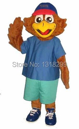 Mascotte FRAZER aigle mascotte costume déguisement personnalisé fantaisie costume cosplay thème mascotte carnaval
