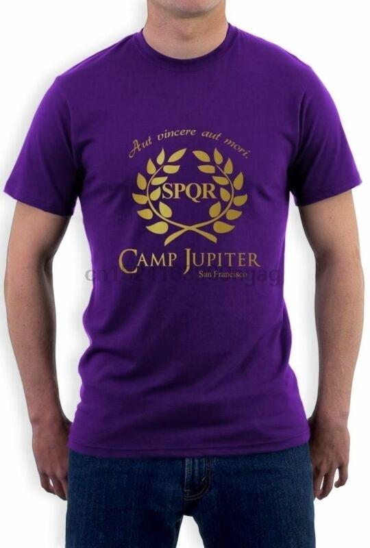 CAMP HALF-BLOOD Branches T-Shirt CAMP JUPITER SPQR Purple Sci-Fi Percy Jackson