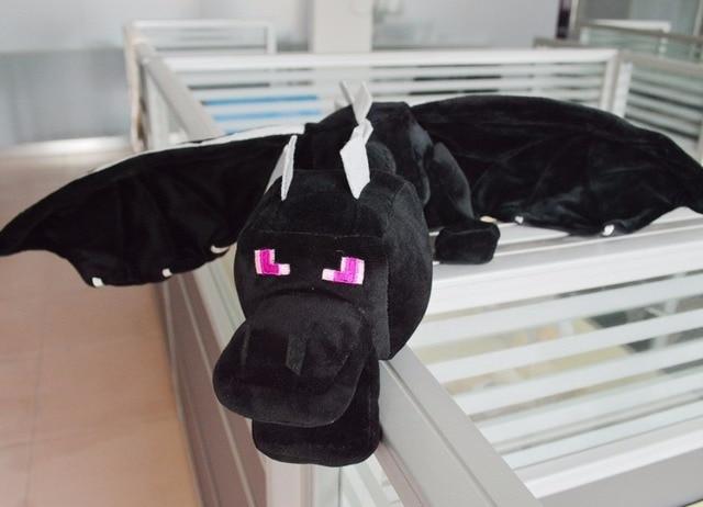 Mi mundo ender dragón felpa minecraft minecraft Minecraft enderdragon suave negro de algodón PP Juguetes dragón