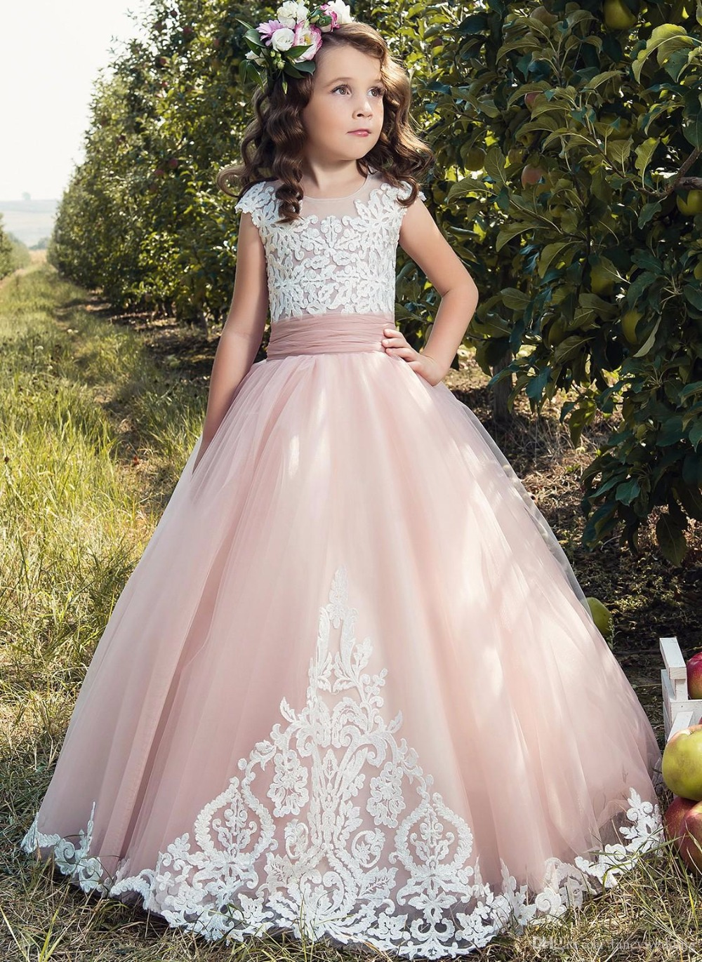 Aliexpress Buy Lace Flower Girl Dresses Tulle
