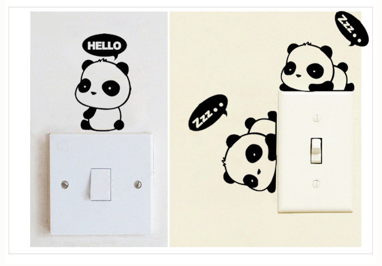 2017 new bathroom bedroom sticker door sticker office wallpaper paste Animal cartoon sticker Notebook sticker Removable