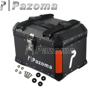 Black Motorcycle Aluminum Rear Box Top Cases Passenger Luggage Box for Honda BMW Triumph Motorbikes