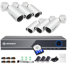 DEFEWAY HD Home Security Video Surveillance Kit 8CH CCTV System 2000 TVL 1080P  Outdoor Security Cameras With 1000G Hard Stick