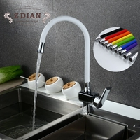 New Arrival 10 color Silica Gel Nose Any Direction Rotation Kitchen Faucet Cold and Hot Water Mixer Torneira Cozinha Crane