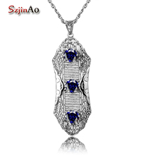 Szjinao Genuine 925 Sterling Silver Women Pendant Necklace Without Chain Female 100 Handmade Wedding Party Jewelry