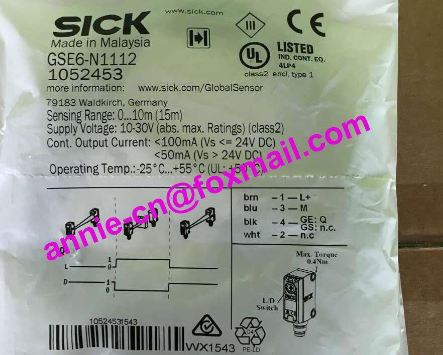 ФОТО GSE6-N1112 (GS6-D1311+GE6-N1111)  New and original SICK  Photoelectric switch, photoelectric sensor