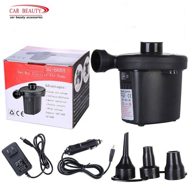 DC12V/AC240V Car Inflator Electric Air Pump Inflate Deflate Pumps Electropump With Nozzles US/UK/EU Plug Car Air Compressor