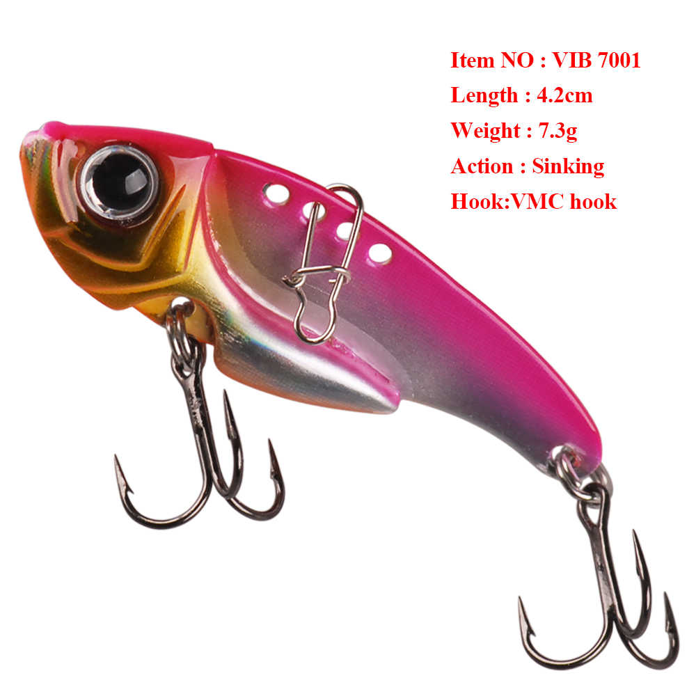 Smart 3.8cm 4.2cm 5cm 5.2g 7.3g 11g Sinking Metal VIB 3D Eyes Hard Bait Para Pesca Fishing Tackle Leurre Souple Leurre Brochet