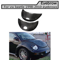 carbon fiber eyebrows Car headlight lips brows High quality for Volkswagen Beetle 1998 2010