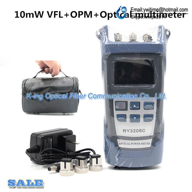 Handheld RY-3205C Handheld Optical Multímetro/medidor de potência óptica + Fonte de Luz + fonte de laser de Fibra de 10 KM VFL