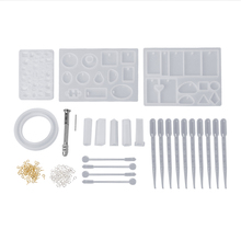 Silicone Mold With Clasp Spoon Dropper Stick Combination Kit DIY Jewelry Making Tools Materials Epoxy Resin Craft Handmade D14_D