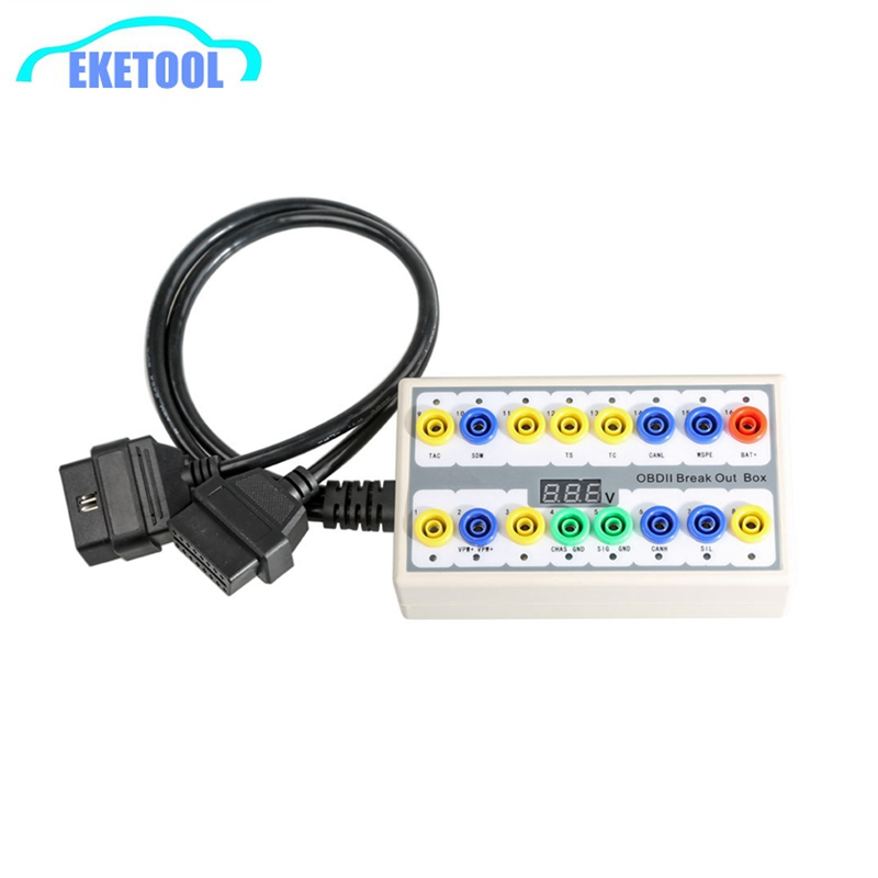 OBD2 Break Out Box Detector OBD OBDII Protocols Connector Diagnostic For Car Line Signal Judgment Signal TransferOBD2 Break Out Box Detector OBD OBDII Protocols Connector Diagnostic For Car Line Signal Judgment Signal Transfer