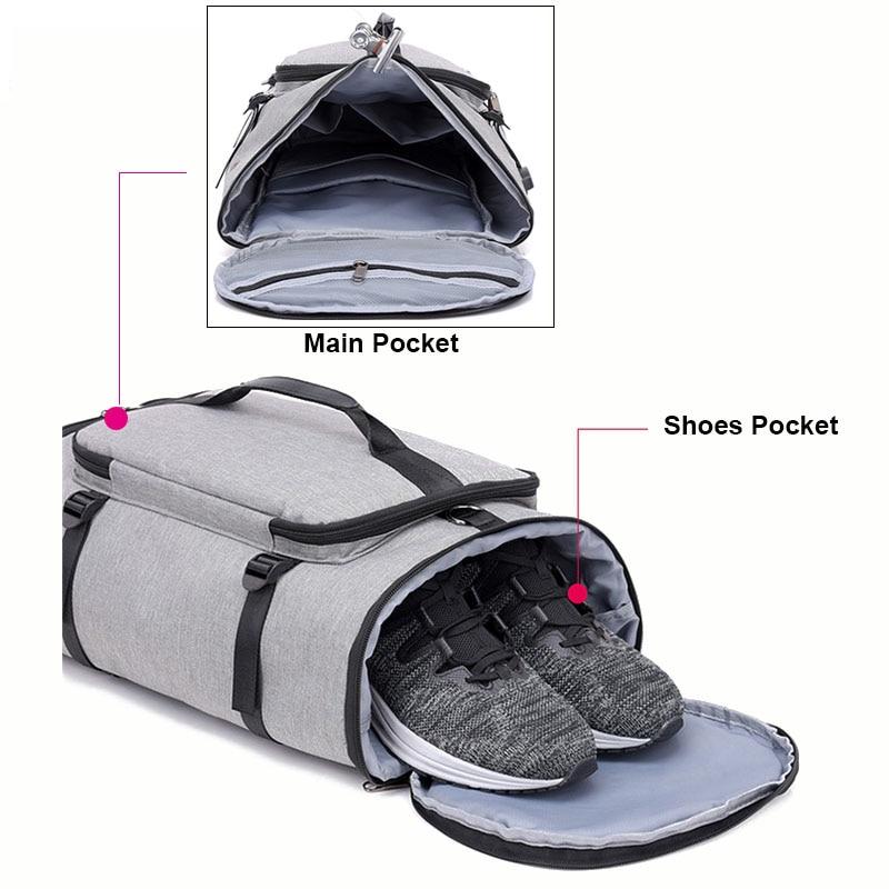 f6e56f5bc Estera De Yoga Fitness gimnasio bolsas seco bolsa De saco De deporte bolsos  para Mujeres Hombres