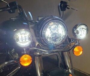 """Image 5 - 4.5 """"4 1/2"""" 30 W projektor LED mijania mgła światło do motocykla Harley Road King Street Glide Softail dziedzictwa Electra Glide touring"""
