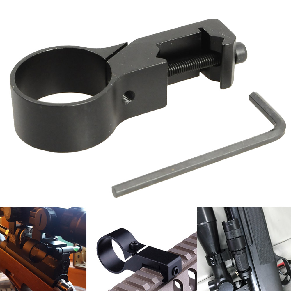 Tactical Scope Mounts Offset Ring Flashlight Light Laser Side Mount for 20mm Picatinny Rail Mount Rifle Gun Adapter image