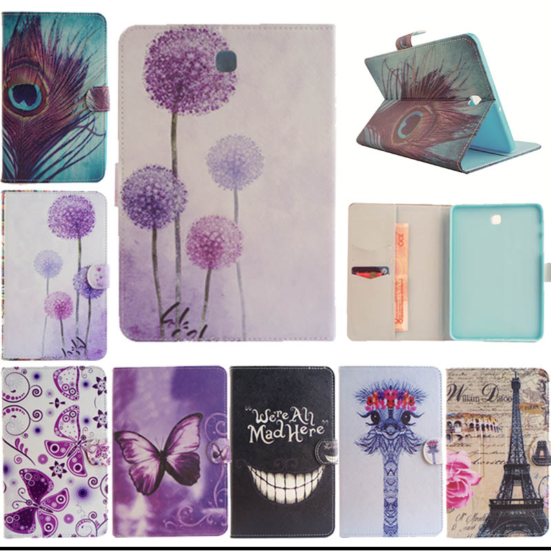 Fashion black tooth Tree style Leather Stand Flip Case for Samsung Galaxy Tab S2 8.0 T710 T715 Tablet Book Cover Y5555D