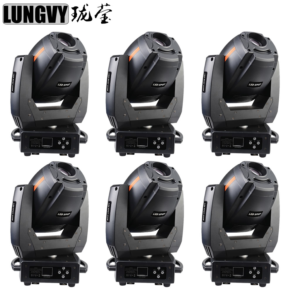 Free Shipping 6pcs/Lot 2017 New Led Spot Light 300W LED Spot Moving Head Party Disco Dj Stage Light
