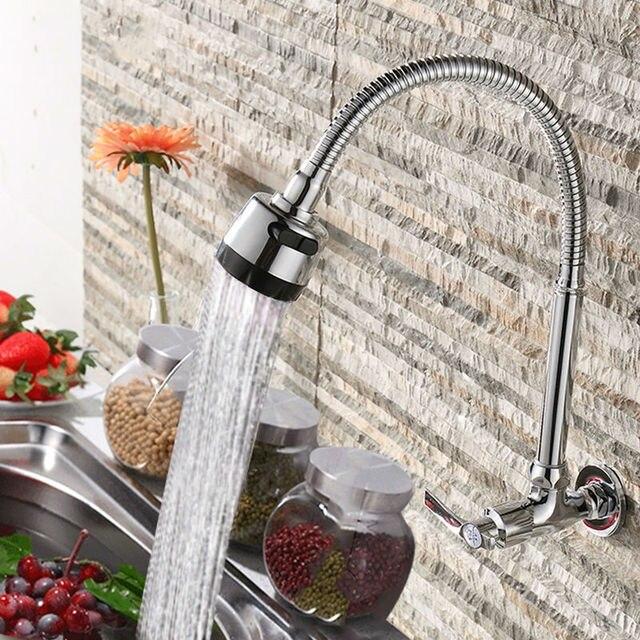 Grifo de la cocina sólo agua fría Pared de latón doble expansión ...