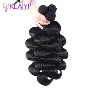 Image 4 - Klaiyi 브라질 헤어 위브 3 번들 바디 웨이브 자연 블랙 컬러 인간의 머리카락 확장 레미 헤어 3 개/몫/많은 염색 수 있습니다