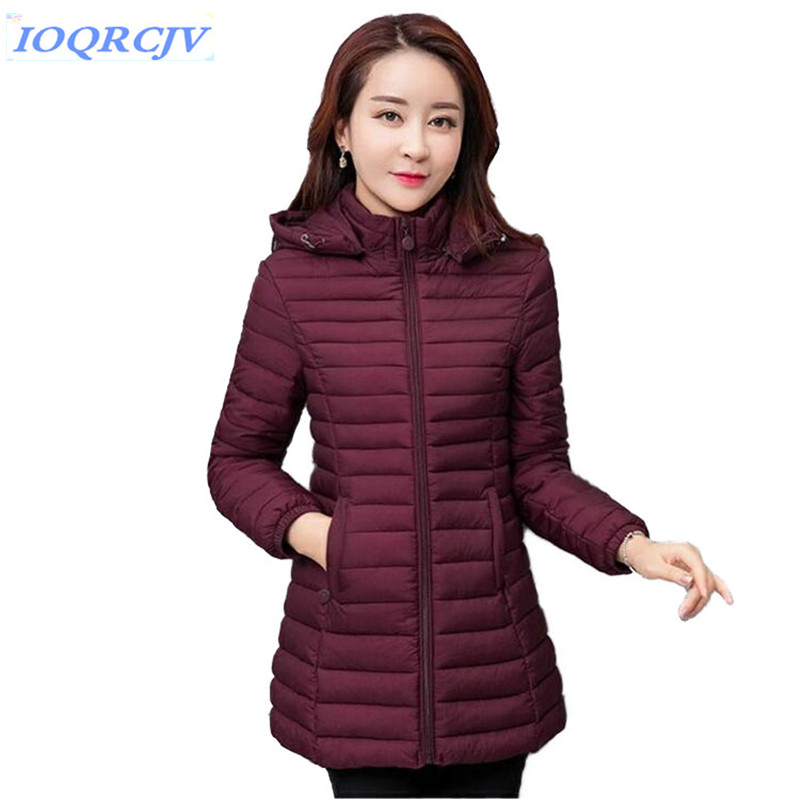 2019 Women Parkas Autumn Winter New Thin Light Jackets Lady Casual Padded Coat Plus Size 5XL 6XL Quilted Female Hooded Outerwear