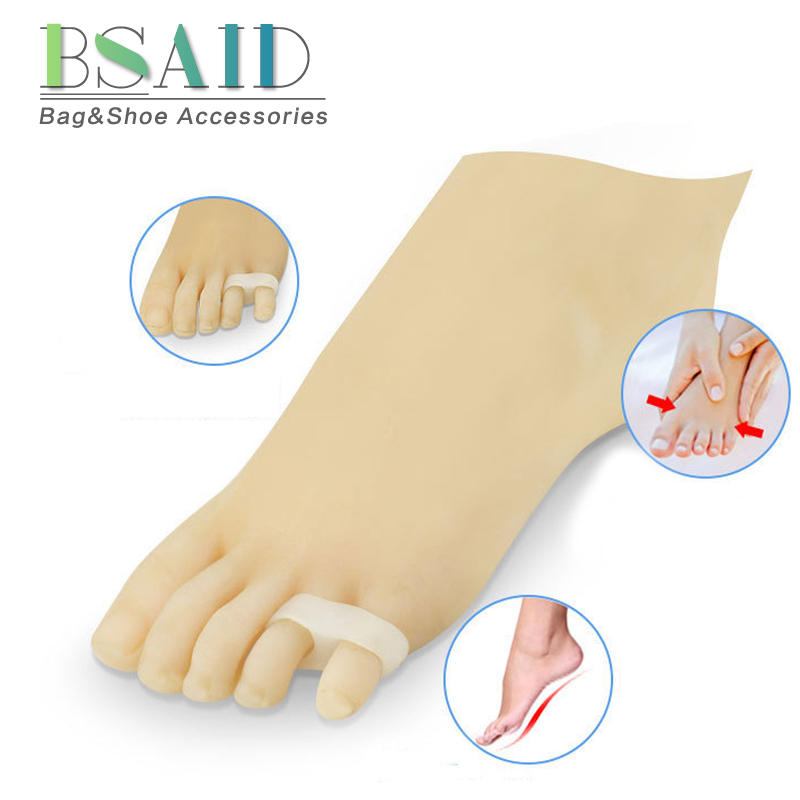 BSAID 1-2 Pair Toe Pads Orthotics Separator Insoles For High Heel Shoes Women Silicone Foot Protector Care Tail Toe Pads Inserts
