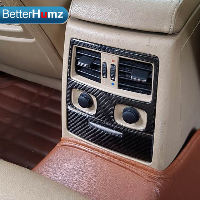 Wonderlijk Für bmw e90 Interieur Kohlefaser Hinten Klimaanlage Vent abdeckung NQ-72