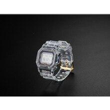 Reemplazo de correa de silicona para reloj DW5600 DW5610, correa de goma deportiva, resistente al agua, transparente, nuevo