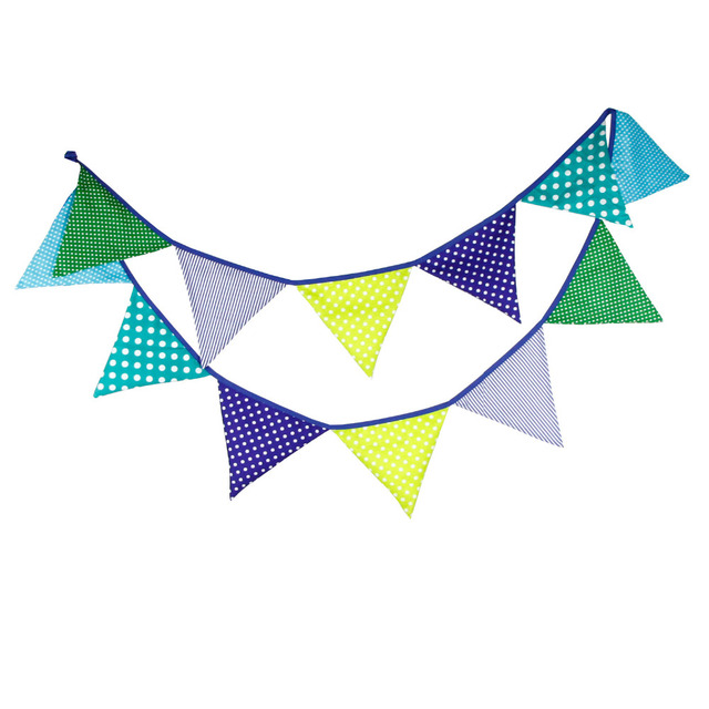 12 Flags 32M table decoration bunting flag banner artificial