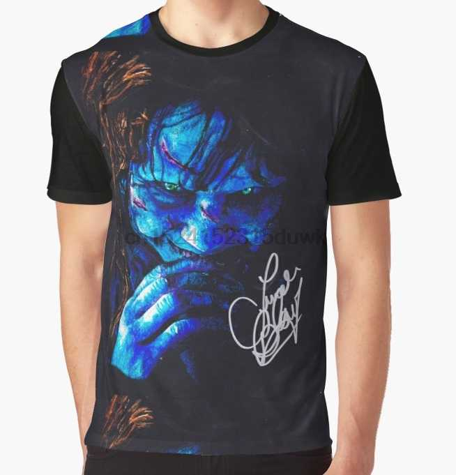 All Over Print T-Shirt Men Funy tshirt the exorcist linda blair autograph Short Sleeve O-Neck Graphic Tops Tee women t shirt
