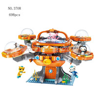 The Octonauts Building Blocks Octo Pod Octopod Playset & Barnacles kwazii peso Inkling Educational Bricks Toys For Children