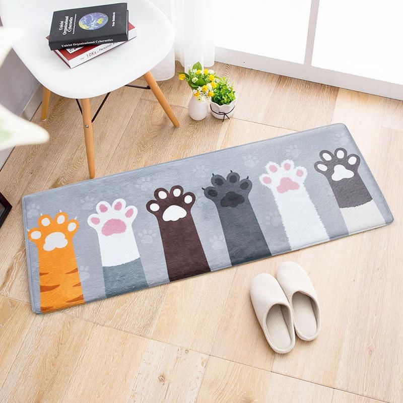 Carpets Area Rug for Living Room Floor Mats Cat Cartoon Printed Bathroom Kitchen Doormat Non-Slip Tapete Mattress Door Mat