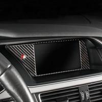 Carbon Fiber Car Inner Console GPS Navigation NBT Screen Frame Cover Trim Accessories For Audi A4