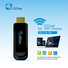 EZCast 5G/2.4G Wireless Display Dongle TV Stick Compatible With DLNA Miracast AirPlay OTA Updates