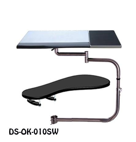 OK010S multifonctionnel chaise de serrage clavier titulaire Lapdesk + carré tapis de souris + chaise bras de serrage XL taille tapis de souris