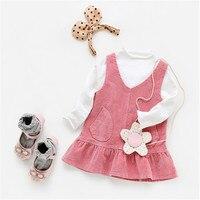 Children Girls Dress Spring Autumn Baby Girl Sleeveless Solid Suspender Dresses Kids Baby Sweet Cotton Big