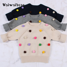 New Toddler  Kids  Sweater  Autumn& Winter  Knit Pullovers Warm Coat Outerwear Clothes  Baby Sweater For Kids Boys And Girls все цены