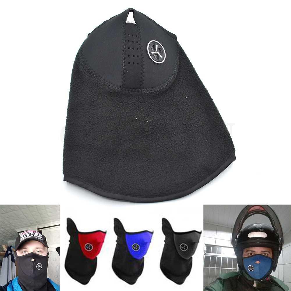 Universal moto bicicleta al aire libre movimiento cara máscara cubierta polar Unisex protector de cuello para Kawasaki Ninja ZX6R ZX6RR ZX636 ZX7R ZX9R