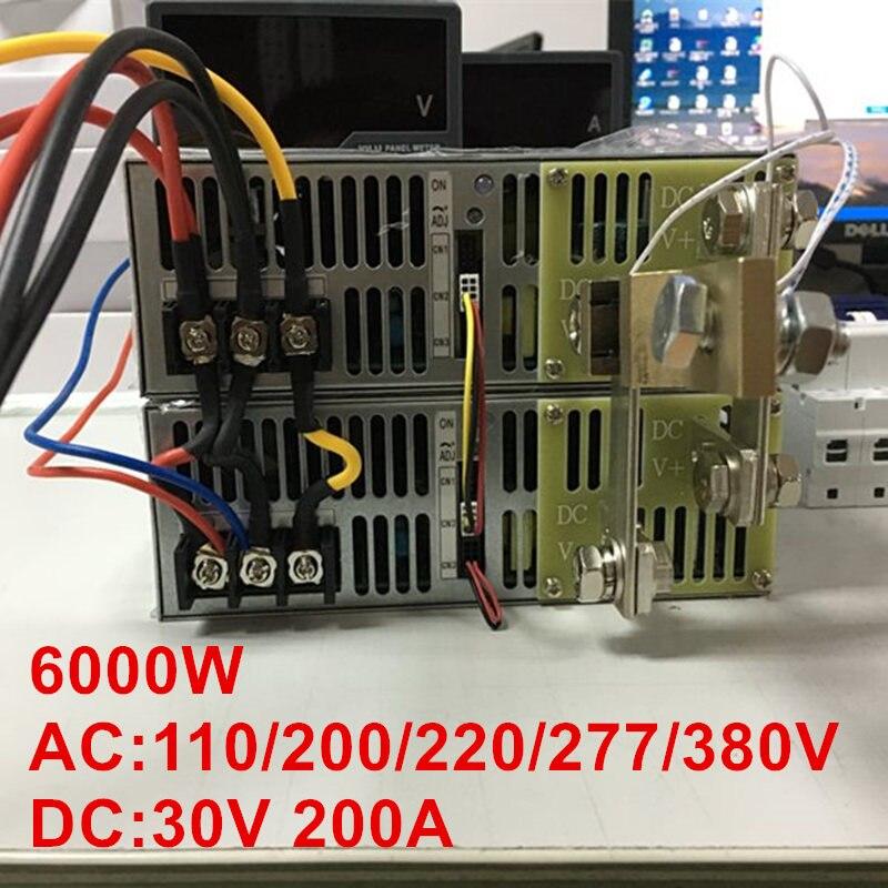 6000W 30V 200A 0-30V power supply 30V 200A AC-DC High-Power PSU 0-5V analog signal control DC30V 200A 110V 200V 220V 277VAC 3500w 30v 116a dc 0 30v power supply 30v 116a ac dc high power psu 0 5v analog signal control se 3500 30
