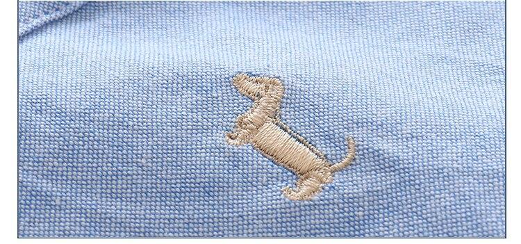 Kids Birthday Gift Clothes 2018 Summer Fashion Cotton White Blue Color Cartoon Dog Print Short Sleeve Mandarin Collar Boys Shirt (11)