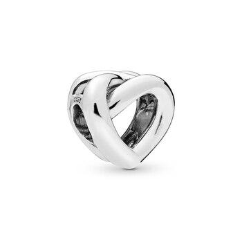 90d63cfbff42 2019 Día de la madre nueva plata de ley 925 anudada corazones encantos Fit  Original pulsera de Pandora auténtico regalo de la joyería