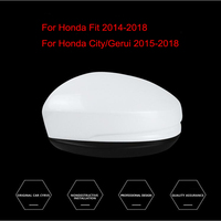 For Honda Fit 2014 2018/For Honda City/Gerui 2015 2018 Car Side Door Rearview Mirror Protect Frame Cover Trim Replacement Case