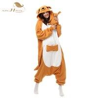 Cute Kangaroo Pyjama Combinaison Animal Women Pajamas Set Plus Size Adult Onesie Pijamas Mujer Sleepwear OS0026
