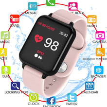B57 Women Smart watches Waterproof Sports For Iphone phone Men Smartwatch Heart Rate Monitor Blood Pressure Functions For Kid
