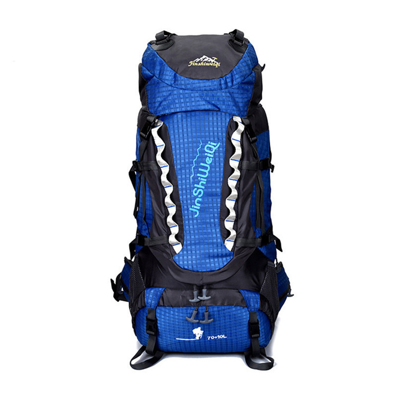 70+10L Large Capacity Outdoor Hiking Trekking Bag Camping Travel Water-resistant Backpack Mountaineering Climbing Bags Knapsack