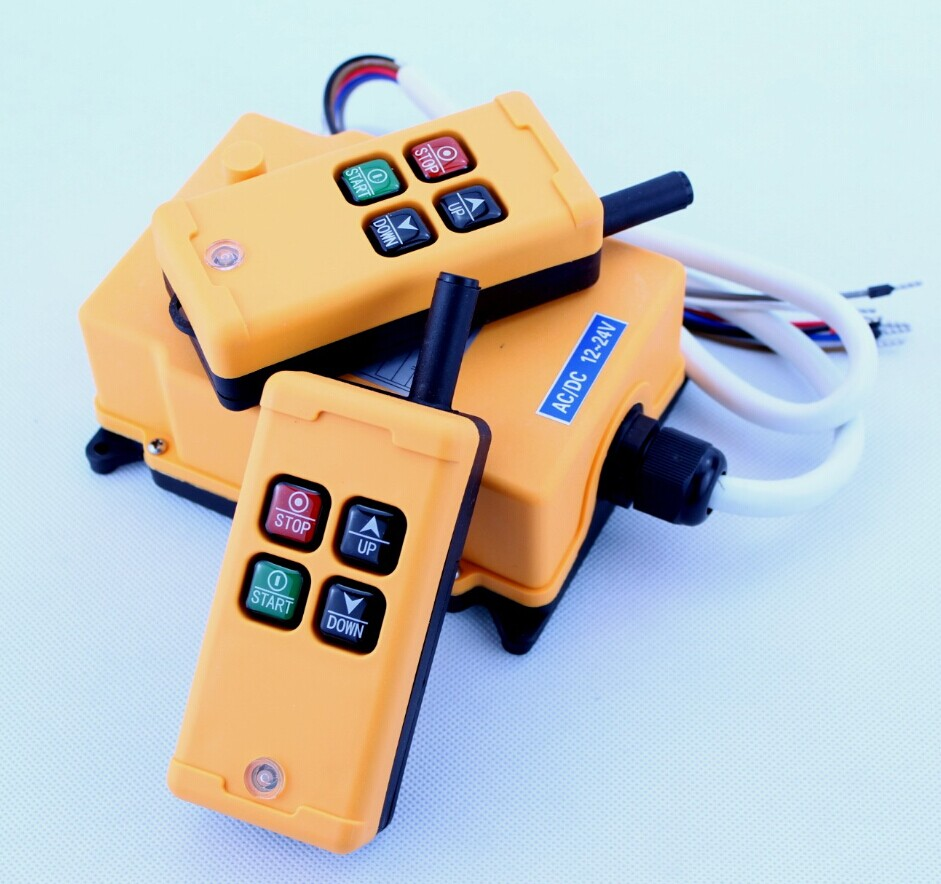 HS-4 Industrial Remote Control Switch 4 keys 1 receiver+ 2 transmitter AC 36V 36VAC 2 transmitter+ 1 receiver 1pcs hs 4 ac110v 4 keys control industrial remote controller 2 transmitter 1 receiver